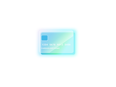 Glass empty state credit card page status uidesign webdesign design ui icons vector skeuomorphism glass morphism card blur figma illustration