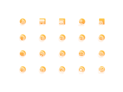 Basic Icons library Glass Style basic ui design vector figma skeuomorphism morphism glass icons