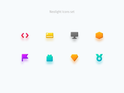 Neolight Icons set effect vector 3d ui figma icons