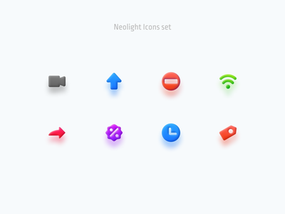 Neolight Icons set volume 3d effect vector ui figma icons