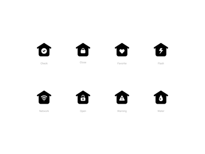 Smart Home Icons (Solid style) control remote device smart vector figma ui dashboard house home icons