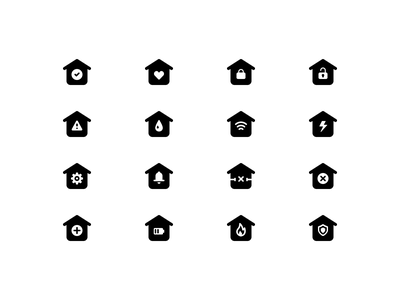 Free Smart Home Icons ui dashboard app house home control remote pack set icons freedownload free