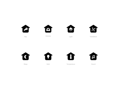 Smart Home Icons (Solid style) status smart