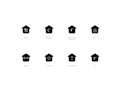 Smart Home Icons (Solid style) smart