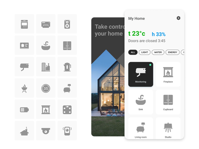 Customize your interface with my icons control remote access house app uiinterface home smart