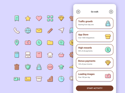 Customize your UI with my icons elements outline graphic design sweet simple basic interface app icon sketch vector figma iconpack iconset icons design ui volume marshmallow