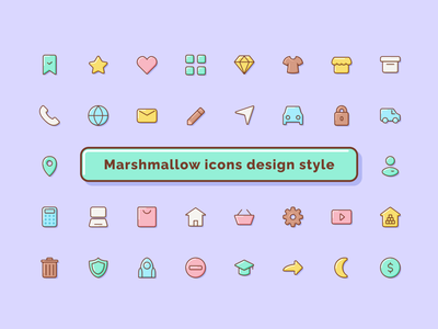 How do you like style? marshmallow sweet system figma design icon vector pack set style work ui figmadesign icondesign icons