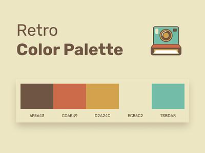 Retro Color Palette color palette palette assets branding icons sheme vintage colors color figma free colorful retro