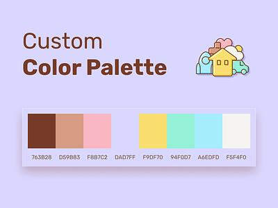 Custom Color Palette colorful file community freebie free figma color colors vintage sheme icons branding assets palette color palette