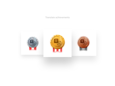 Achievements uidesign place gold medal award achievement service app language translate badges vector icon icons figma