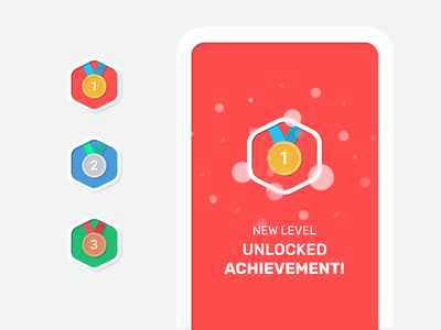 One more achievements silver bronze gold achievement style flat icondesign icons reward medals app figma