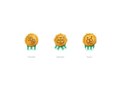 Language achievements gold icon language achievement award badge medal figma