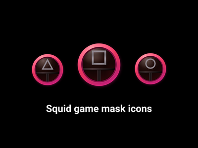 Free Squid Game Mask Icons octopus figma community resourses freefigma freeicon icon square triangle faces circle game squid movie squidgame icons vector freebie free