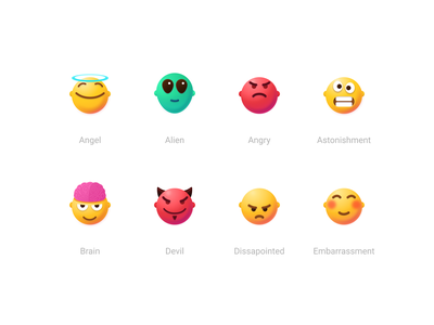 Faces, Smiles, Emojis #2 skeuomorphism emotion faces people character avatar 3dvector vectoremoji 3demoji vector icon emoji smile uidesign icons figmadesign