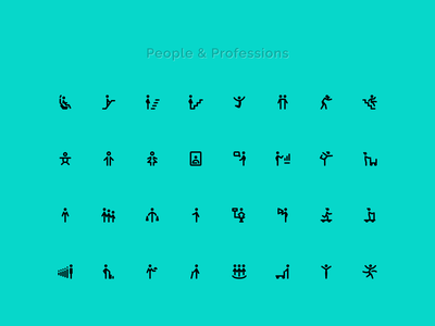 People icons svg icons action profession stroke solid pose 24grid 24px 24icons icondesigner icondesign icon woman man people