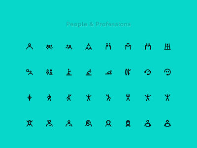 People icons figma vector ui design pose sport action profession woman man icondesign icons people