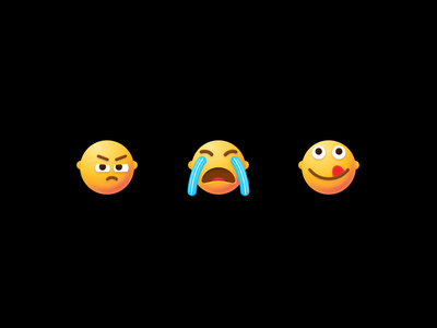 My new emojis emotion faces vector icon sad cry fun naughty crying envy uidesign icons figma 3dvector vectoremoji 3demoji smile emojis