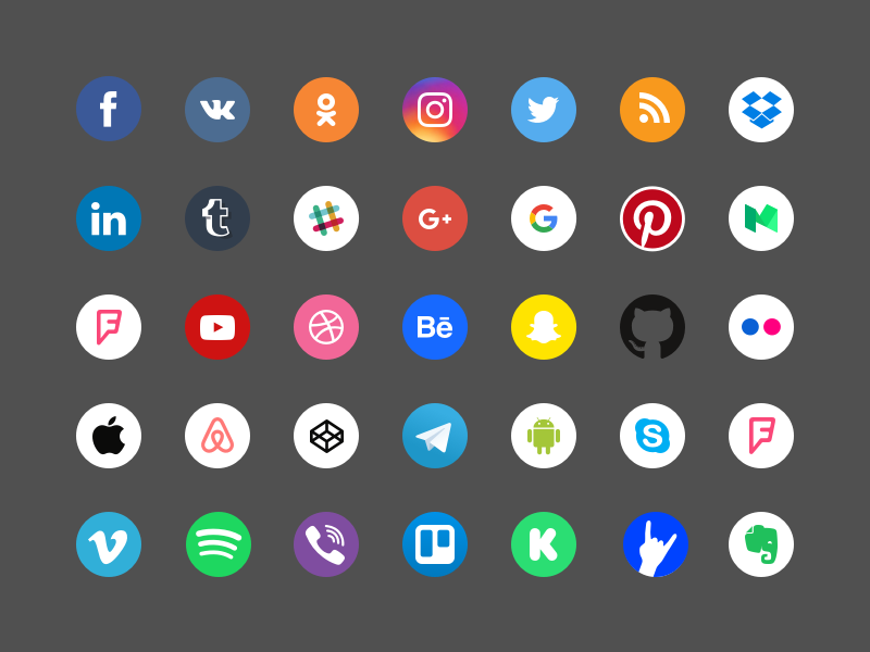 Free Social Icons  brands resourse sketch download trend company logos freebie set free icons social