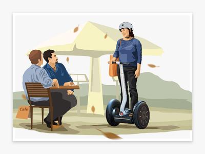 Segway illustration pics vector web segway