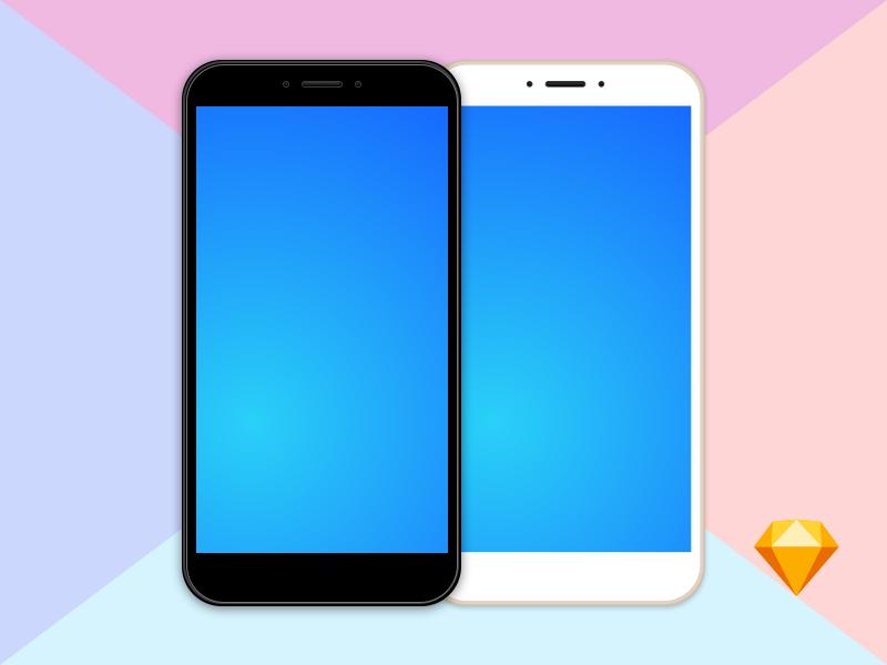 Free Clean MockUp Xiaomi Mi Max 2 vector clean sketch mi xiaomi phone mockup free