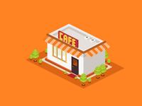 Illlustration of Cafe