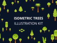 Isometric Trees Illustration Kit