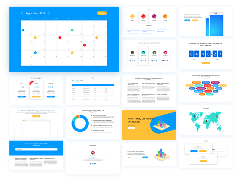 Free Update Ui Kit page landing blog component frame sketch bootstrap web simple kit ui