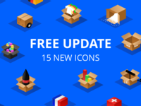 Isometric boxes - free update