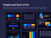 Simple and Dark UI Kit