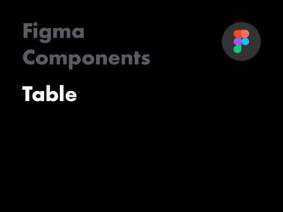 Figma Components - Table
