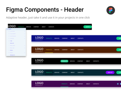 Figma Components - Header