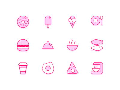Food icons sketch