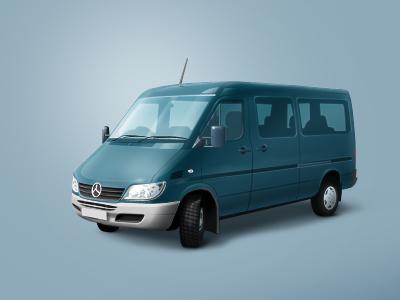 Minivan car blue mercedes minivan van bus auto icon microbus photoshop