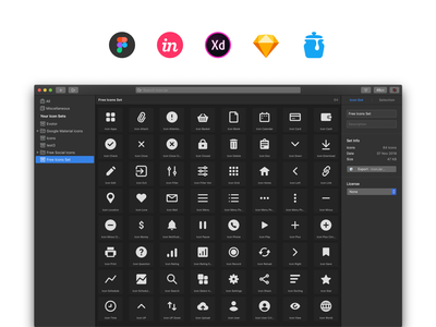 64 free essential icons starter popular essential basic iconjar icondesign iconography icons pack iconset adobe sketch figma svg vector freebie free icons icon