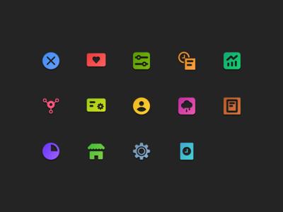 Dashboard icons set