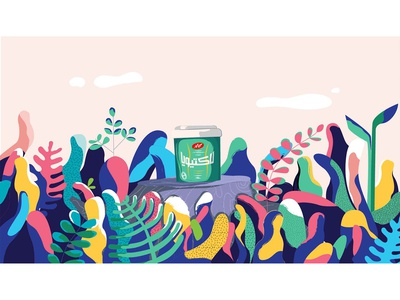 Illustration for kale Lactivia campaing