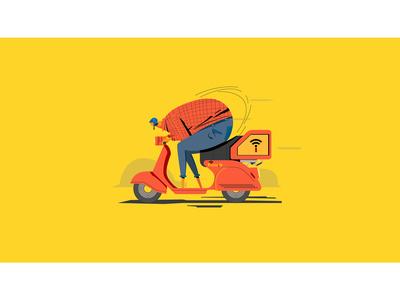 Illustration for mobile App pizza.ir