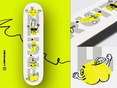 FRUITZ skateboard graphics skateboard drawing digital painting digital illustration digitalart design illustration