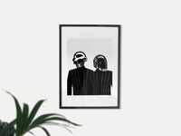 Daft Punk photoshop artwork