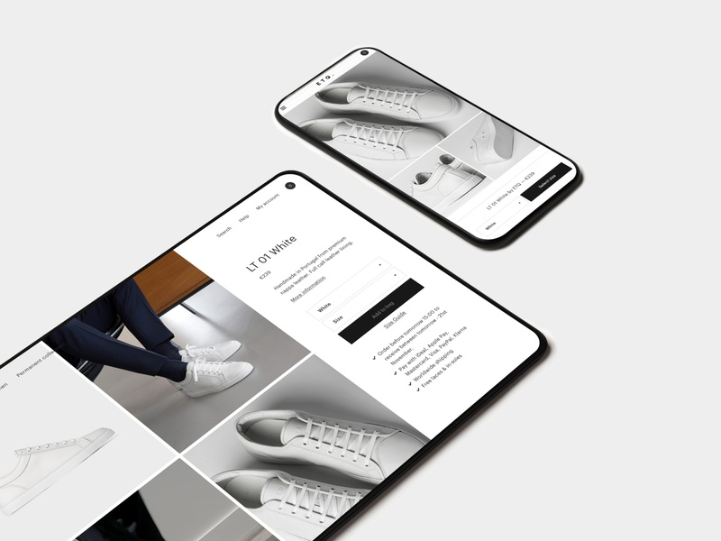 ETQ. product detail page font brand website ux ui typography photography branding logo design