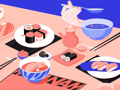 Japanese Cuisine food hand salmon sushi cuisine