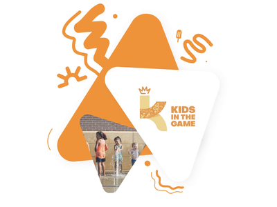 Kids in the Game Sub-Branding nyc playful font sports youth developement motion graphics colorful branding brand motion dynamic animation after affects atlanta design