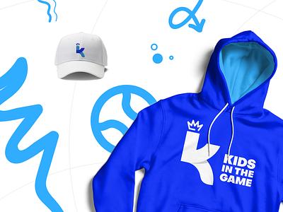 Kids in the Game Brand brand dynamic logo vector illustration branding colorful new york atlanta design