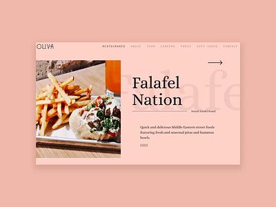 Oliva Restaurant Group development cx customer experience experience restaurant ui design ux design ux  ui web design website web animation after affects dynamic atlanta design