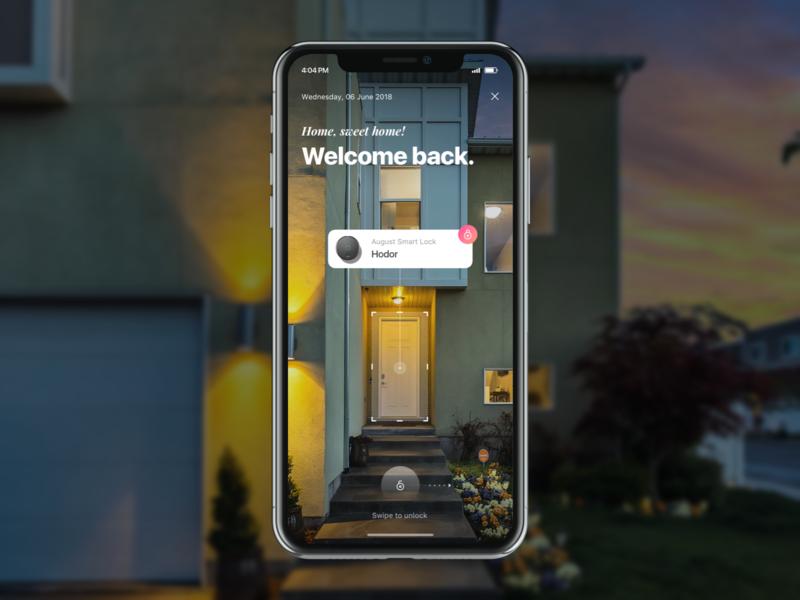 Smart Home Assistant - AR Smart Lock appliances smart lock smart home augmented reality ar ios ui app mobile