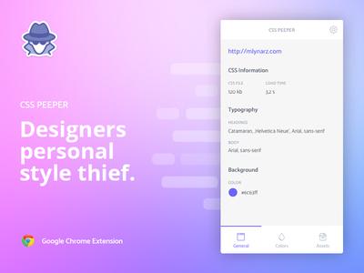 CSS Peeper web tool designer viewer peeper css widget extension chrome