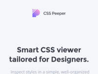Mobile csspeeper landing page