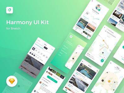 🔥 Harmony UI Kit for Sketch map location app mobile free freebie sketch kit ui harmony