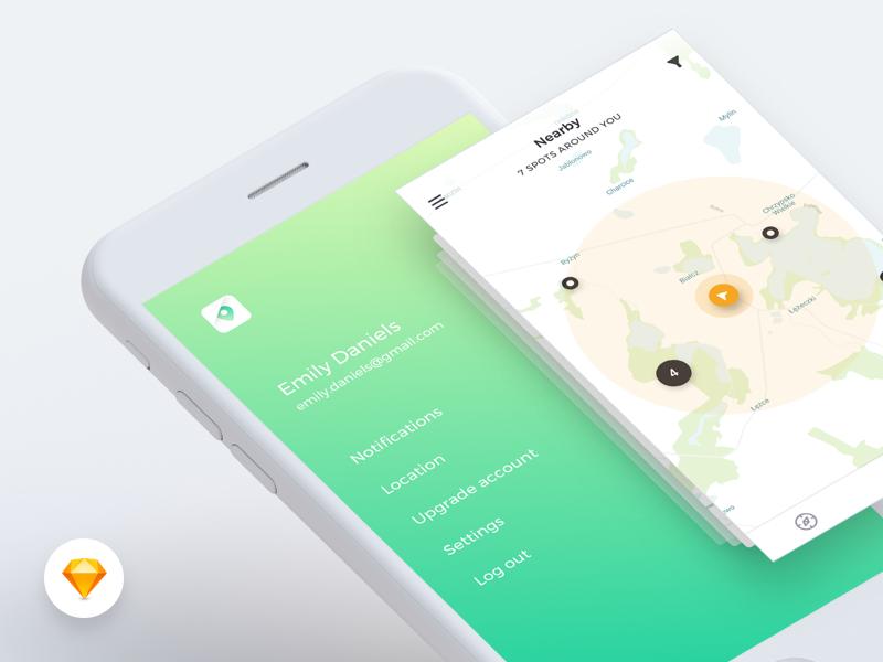 Harmony UI Kit – Sidemenu