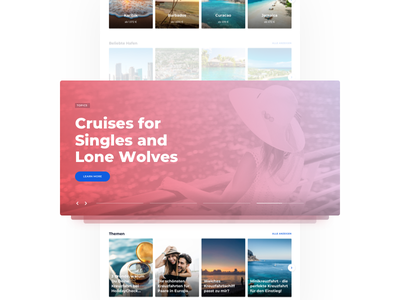 HolidayCheck Cruises - Teaser 2.0 typography cruises landing website homepage teasers offers minimal travel